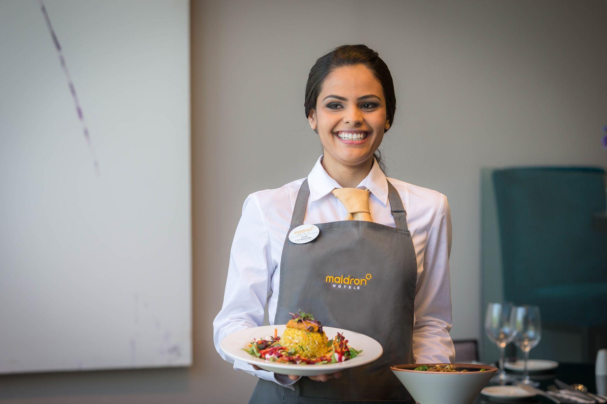 Waiteress-Serving-Food